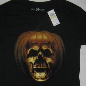 Halloween Black Orange Pumpkin T-shirt New